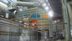 Project example of mobile hood for intermediate frequency furnace