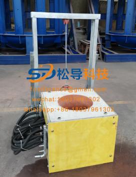 Lift type induction melting furnace